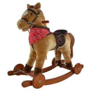 Каталка-качалка pituso лошадка fandango jr612w со звуковыми эффектами Светло-коричневая