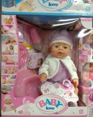 Кукла Baby Love в кофточке