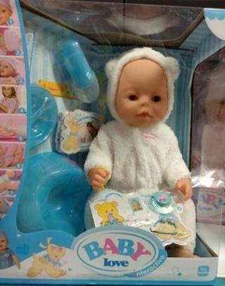 Кукла Baby Love в комбинезоне