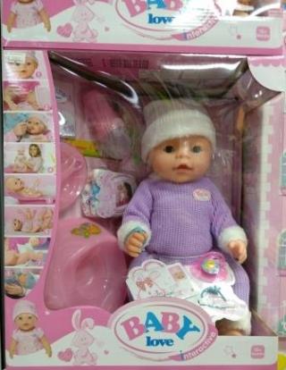 Кукла Baby Love в шапочке