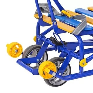 Санки детские Nikki-3 N3 З выдвижные колесные шасси синие