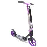 Самокат Unlimited NL500R-205, c велосипедным рулем черно-фиолетовый