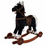 Каталка-качалка pituso лошадка fandango GS2033W со звуковыми эффектами черная