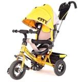 Велосипед Trike City New большие надувные колеса желтый
