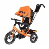 Велосипед Trike City New большие надувные колеса оранжевый