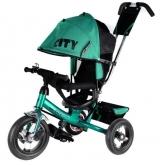 Велосипед Trike City New большие надувные колеса зеленый