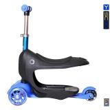 Каталка-самокат 3 в 1 Y-SCOO Mini Jump&Go aqua со светящимися колесами синий