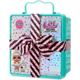 Большой набор L.O.L. Surprise Deluxe Present Surprise с куклой и питомцем, бирюзовый 570707