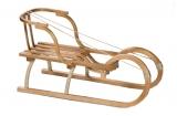 Санки Малыш(Мороз Иванович) деревянные со спинкой и с подножкой