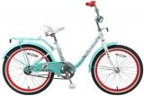 """Велосипед 20"""" Stels Pilot 200 Girl (2016) светло-зелёный"""