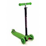 Самокат со светящимися колесами Maxi Flash SKL-07L Triumf Active Зеленый