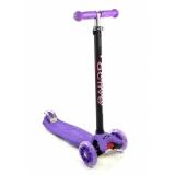 Самокат со светящимися колесами Maxi Flash SKL-07L Triumf Active Фиолетовый