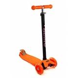Самокат со светящимися колесами Maxi Flash SKL-07L Triumf Active Оранжевый