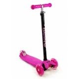 Самокат со светящимися колесами Maxi Flash SKL-07L Triumf Active Розовый